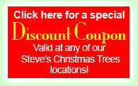 Discount coupon for Steve's Christmas Trees,